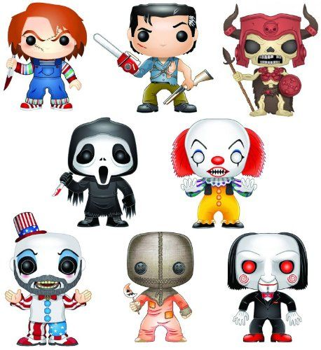 Funko Pop Horror Movies Set Of 8 Including Trick Or