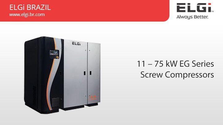 11 – 75 kW EG Series Screw Compressors https://www.elgi.br.com/11-75-kw-eg-series-screw-compressors/