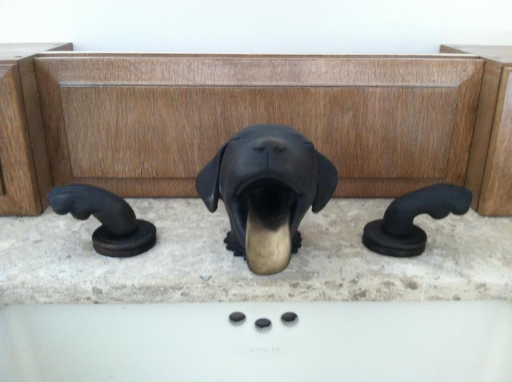 Wow They Really Make Faucets In Any Shape Dog Woof