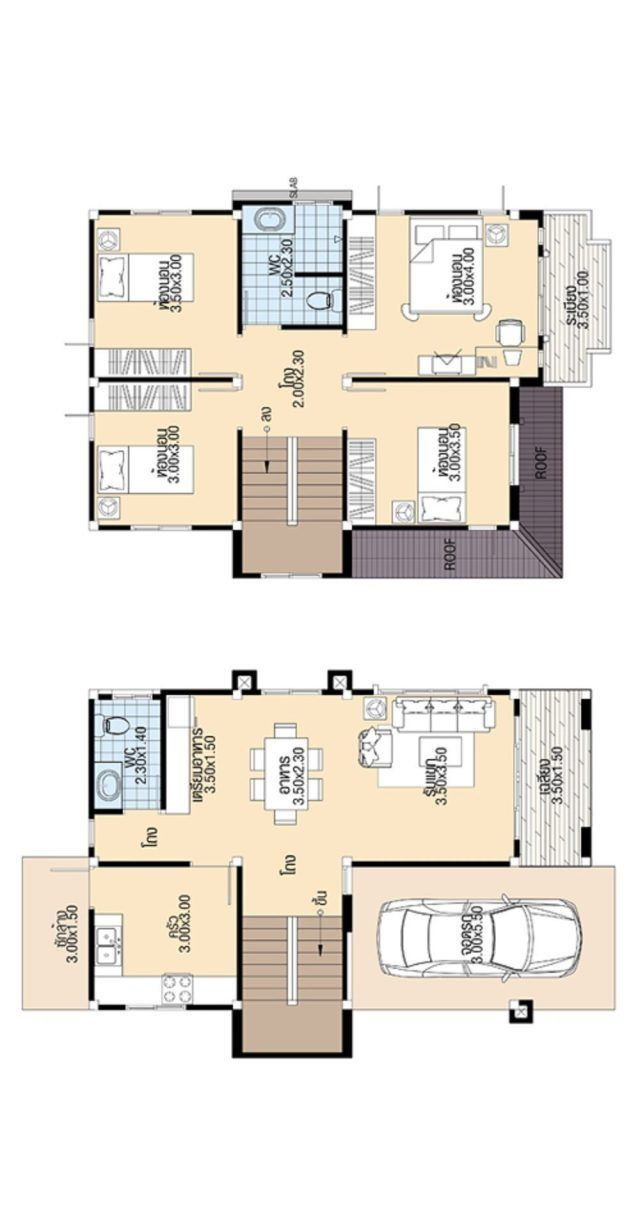 House Design 3d 7 5x10 3 With 4 Bedrooms Tiny House Design 3d 4 Bedroom House Designs Small House Plans Tiny House Design