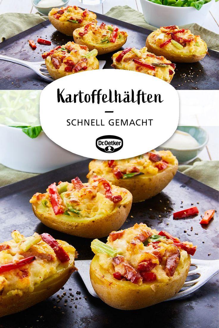 Apr 10, 2020 – Überbackene Kartoffelhälften: Schnell gemachtes Kartoffelgericht aus dem Backofen #leckeresausdemofen #ge…