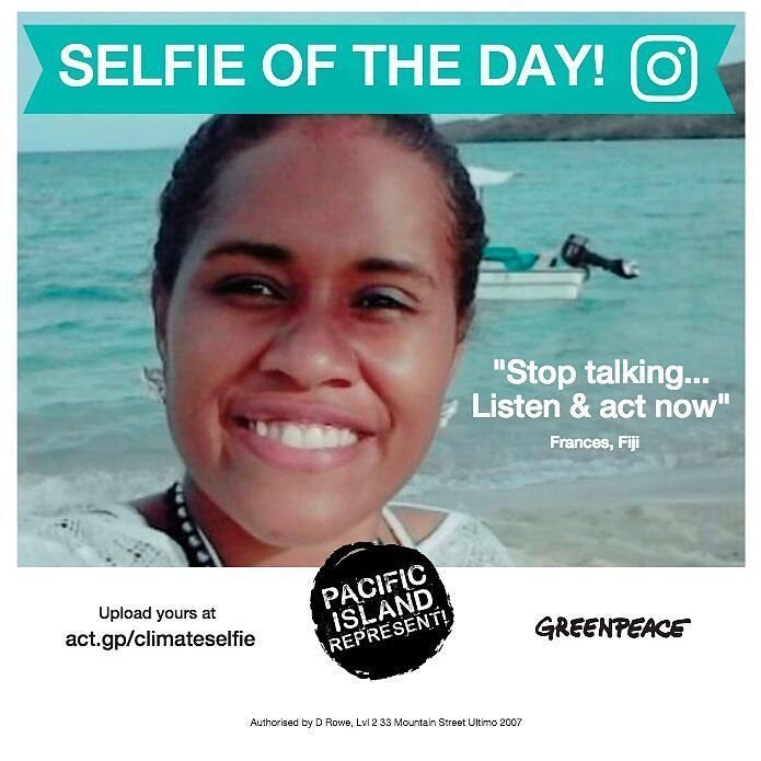 Congrats Frances a Pacific Island Represent hat will be sent to you so you can represent. Send @pacificislandrepresent your photo for your chance to be Selfie of the Day! #pacificislands #COP23 #selfie #selfieoftheday #selfietime #challenge #selfiechallenge #climatechange #conference #globalwarming #greenpeace