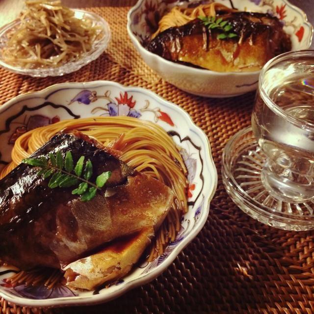 滋賀、長浜の焼き鯖そうめんを真似して鯖の煮物でなんちゃって鯖そうめんです☆  いつか本場で食べてみたいな〜♪ - 78件のもぐもぐ - 鯖そうめん☆ by komamie