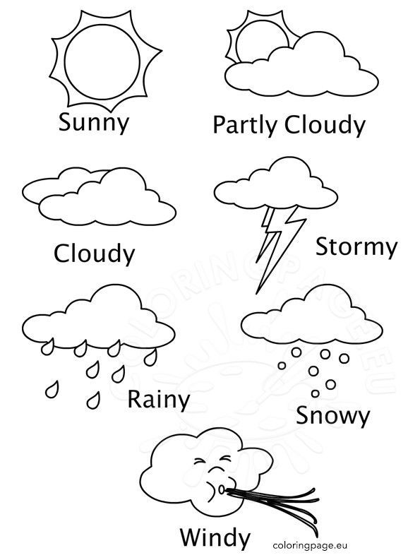 Weather Color Sheets Weather Colouring Pictures For Children Free