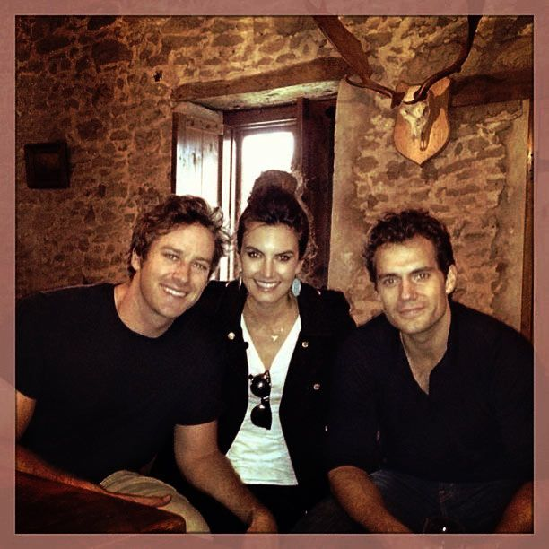Henry Cavill and Armie Hammer: first pic together.Thanks to henrycavillorg tumblr page for pic/edit.