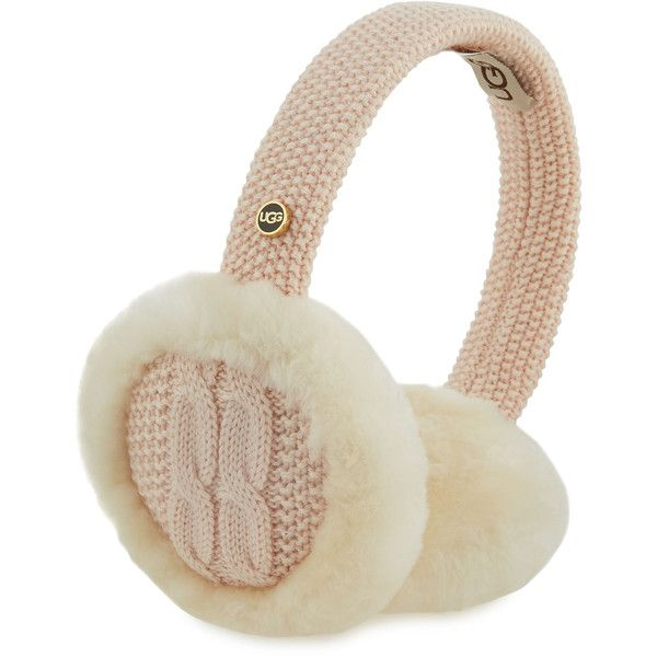 UGG Wired Cable-Knit Crochet Earmuffs ($80) ❤ liked on Polyvore featuring accessories, pearl, ugg earmuffs, ugg and wired earmuffs