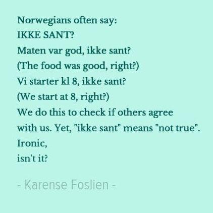 "Karense (@norwegianteaching) na Instagramie: ""Norwegian is a funny language!"