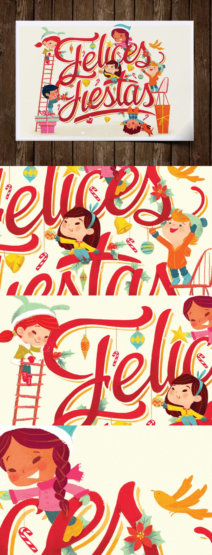 Diseño e Ilustración de Postal navideña para UNICEF México mediante técnicas tradicionales y digitales.Para este proyecto contamos con la estupenda colaboración de Gemma Román https://www.behance.net/gemma_romanhttps://www.facebook.com/GemmaRomanArt