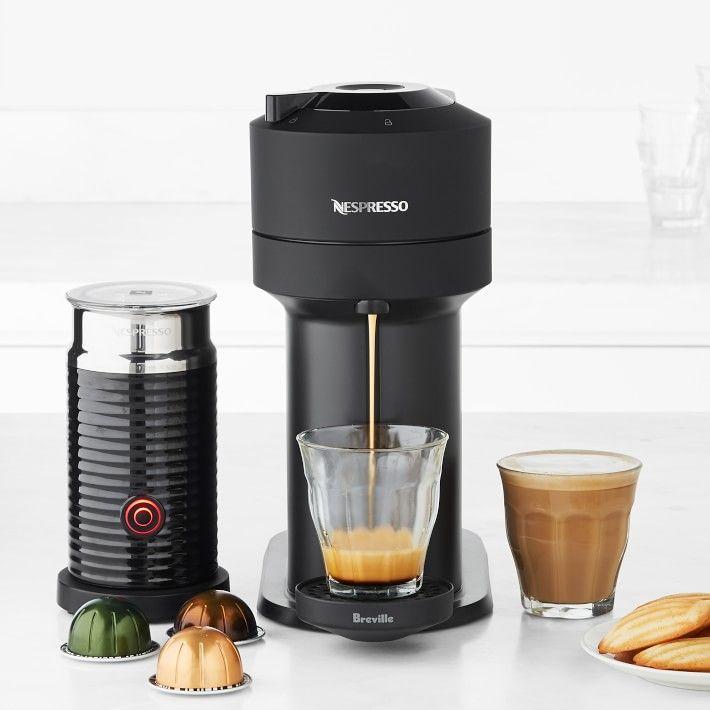 Nespresso By Breville Vertuo Next Matte Black With Aeroccino Nespresso Coffee And Espresso Maker Espresso Machine