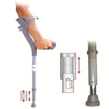 Vissco Two In One Under Arm Crutches & Walking Stick - Vissco Underarm…
