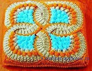 вязание оригинального коврика крючком