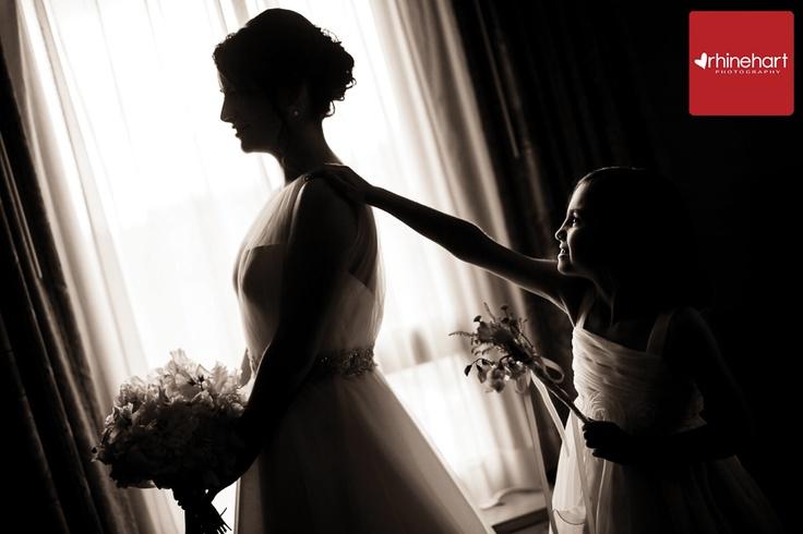 Older flower girls can really enjoy all the preparations: Glen Foerd Mansion Wedding Photographer: Geri & Nick » Rhinehart Photography