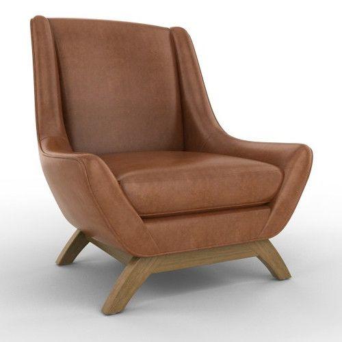 dwell modern lounge furniture. jensen leather chair from dwell studios modern lounge furniture
