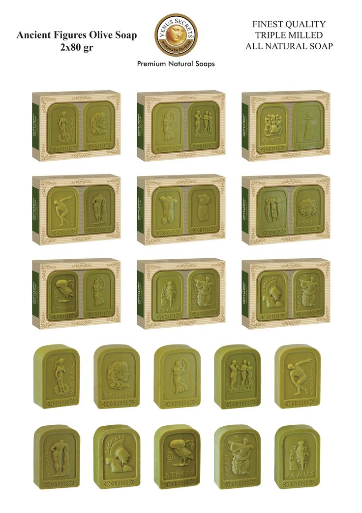 Ancient Figures Olive Soap 2x80gr _____Code: 520750