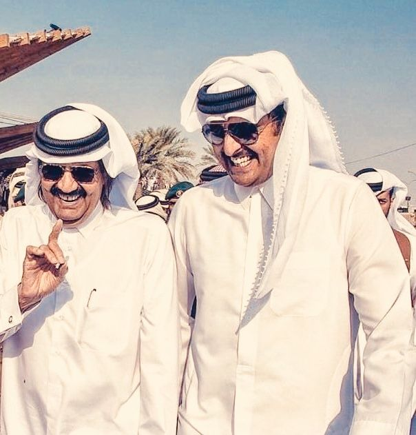 Amir Tamim And Father Amir Sheikh Hamad Doha Qatar App Pictures Captain Hat Pictures