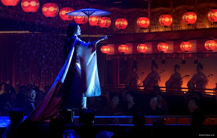 memoirs of a geisha; the dance was about a woman passing over to the afterlife and yearning for her past, struggling to accept her fate. i love this movie and the dance as well as the story of it