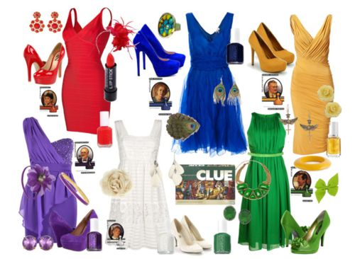 Cute dresses...related to Clue characters!