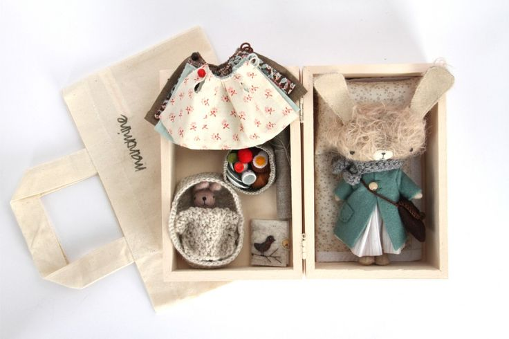 The package. Dress pattern. Crochet smaller on food basket than baby bed.