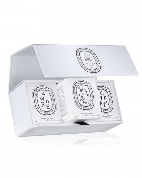 No one knows your bridesmaids better than you. Treat them to a set of three mini candles customized with their favorite scents.    Diptyque Build Your Own Candle Set, $96,DiptyqueParis.com.