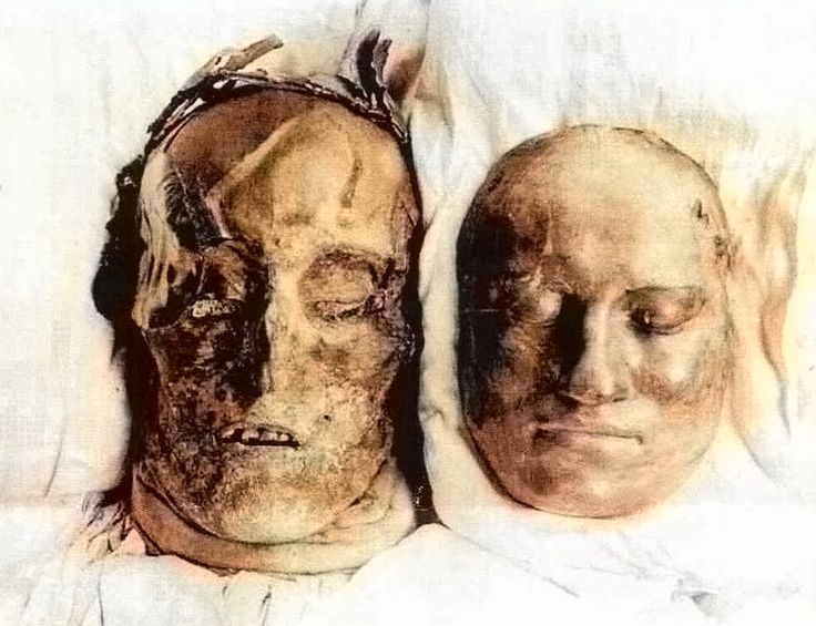 Karl xii´s head and the deathmask