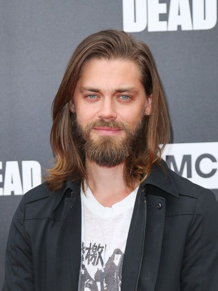 Tom Payne is seen attending AMC 'Talking Dead Live' for the premiere of 'The Walking Dead' at the Hollywood Forever.
