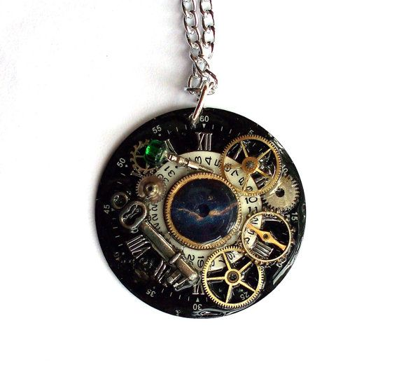 Doctor Who Necklace Darkness and Light by TimeMachineJewelry