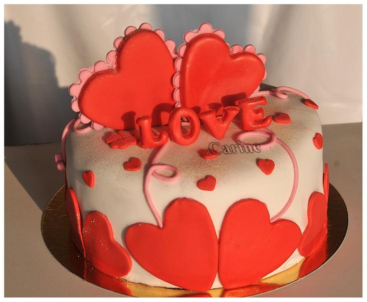 Sint Valentijn taart   Gateau Saint - Valentin