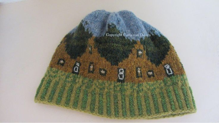 "Fair Isle hat ""Schier"" named after Schiermonnikoog, a part of the Netherlands. Design by Carla van Doorn. Pattern will follow."