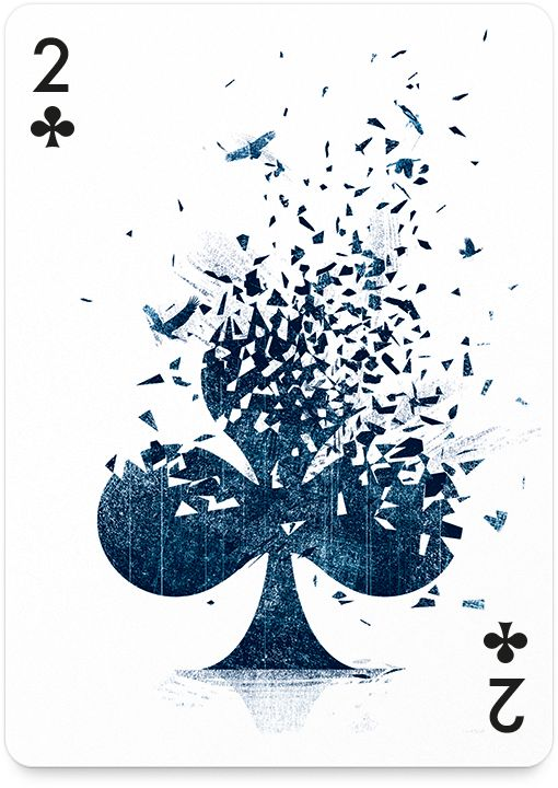 2 of Clubs by Tang Yau Hoong - http://playingarts.com/cards/tang-yau-hoong/
