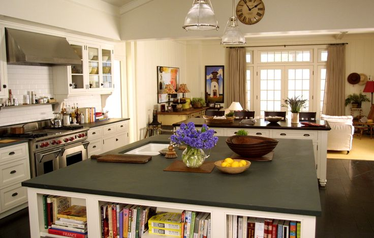 """Diane Keaton's character's kitchen from """"Something's Gotta Give,"""" designed by Beth Rubino. (She also did It's Complicated.)"""