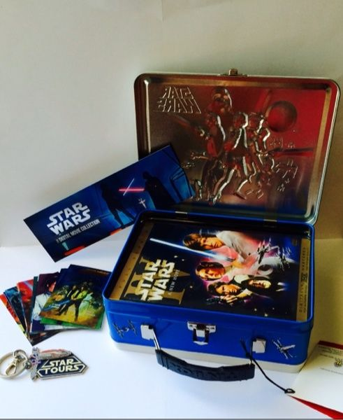 Walt Disney's RARE Star Wars Limited Edition Lunch Box Trilogy DVD set with extras