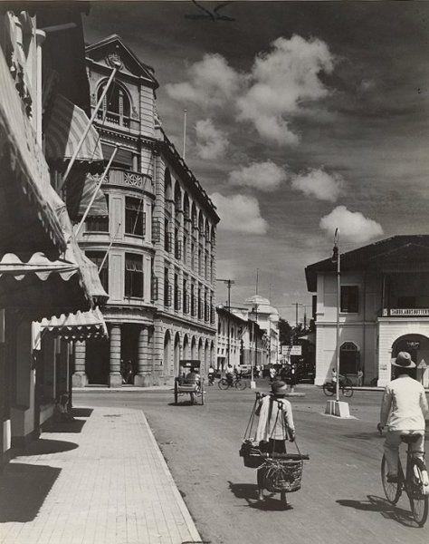 Straatbeeld Medan, Sumatra, Indonesië (1936)