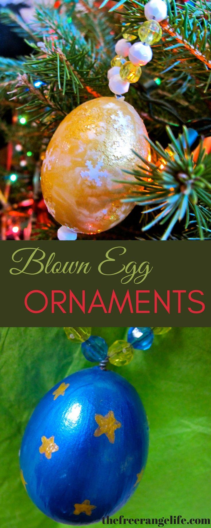 Homemade Homestead Christmas: Egg Ornaments