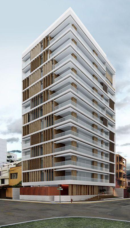 Proyecto de edificio multifamiliar en Miraflores diseñado por Vértice Arquitectos.