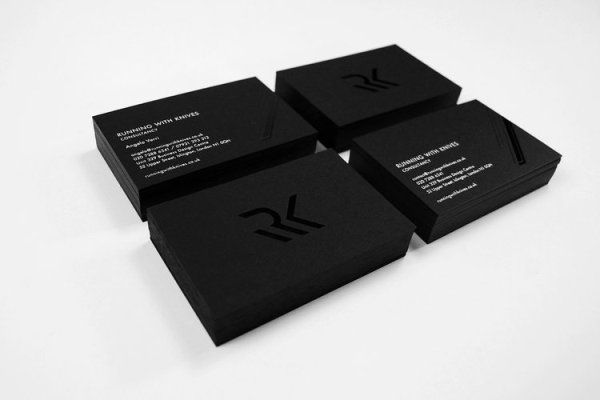 black business card stack | Cards Designs Ideas