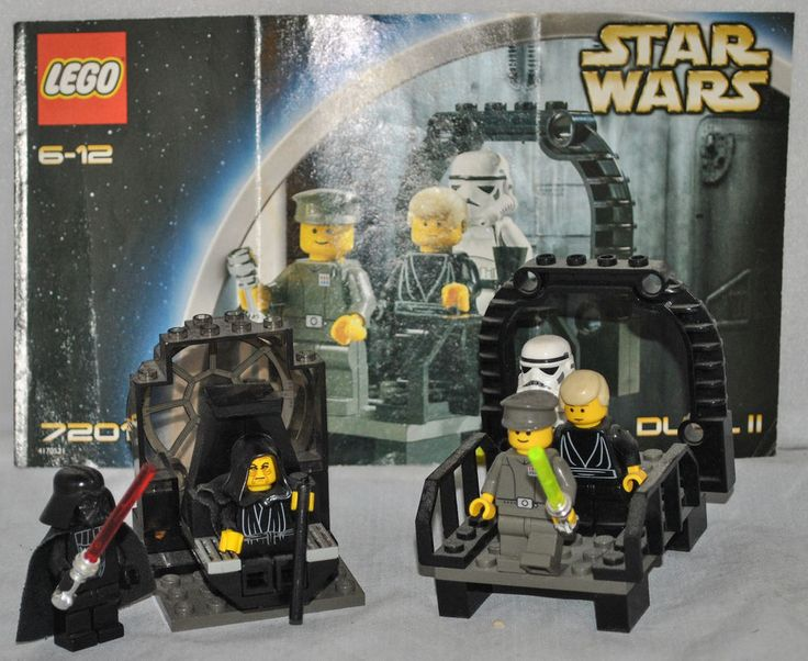 LEGO STAR WARS Final Duel I & II #7200 & 7201 with Mini Figures 100% Complete RARE!!!