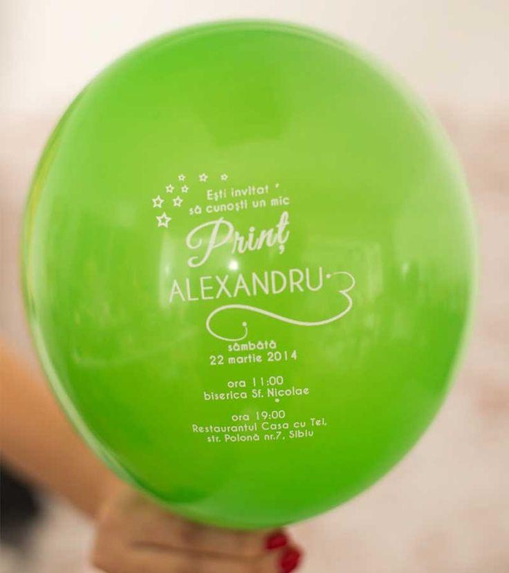 Invitatie de botez - Bouncing Baloons