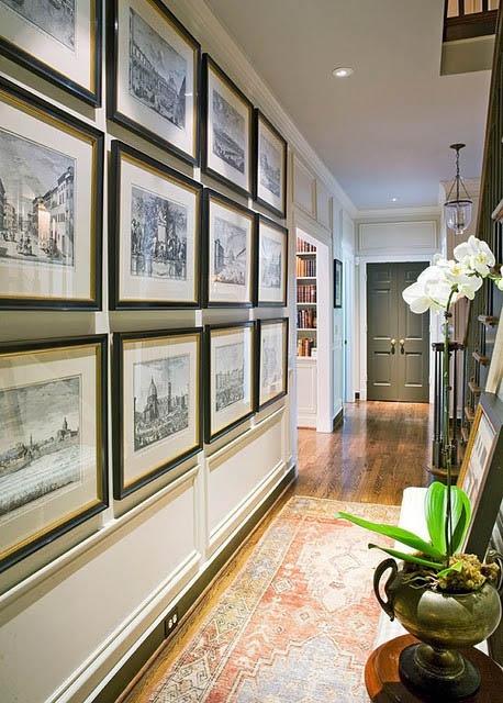 black frames, rug, door color