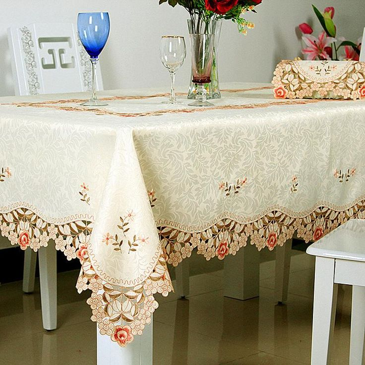 Cheap Table Cloth, Buy Directly from China Suppliers: Fashion Embroidered Tablecloth Handmade Manteles Para Mesa100% Polyester Lace Tablecloths Home Hotel Wedding Ma