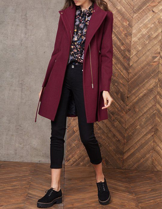 At Stradivarius you'll find 1 Woollen cloth coat with belt for woman for just 399.9 HRK . Visit now to discover this and more COATS.