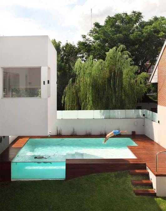 Image detail for -Above Ground Swimming Pool Swimming Pool on Uneven Ground for Modern ...