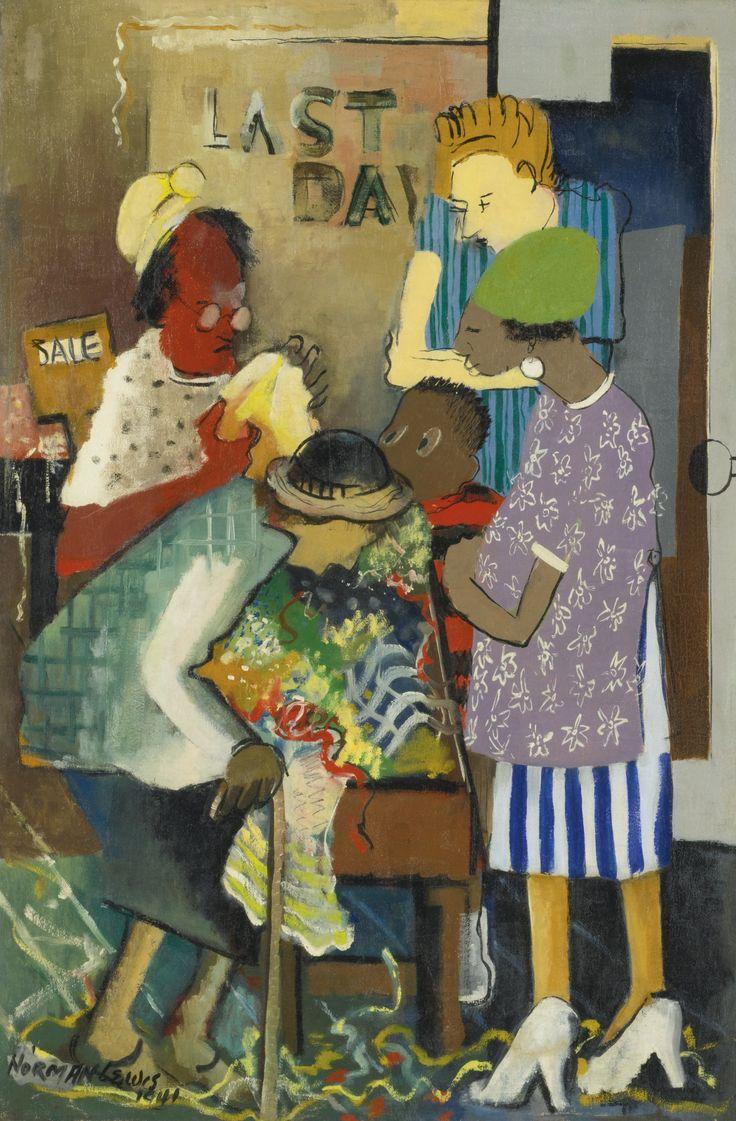 Norman W. Lewis (1909-1979) was een Amerikaanse schilder, geleerde en leraar. Hij wordt geassocieerd met Abstract Expressionisme , geïnspireerd door zwart stedelijke leven en de strijd van zijn gemeenschap.