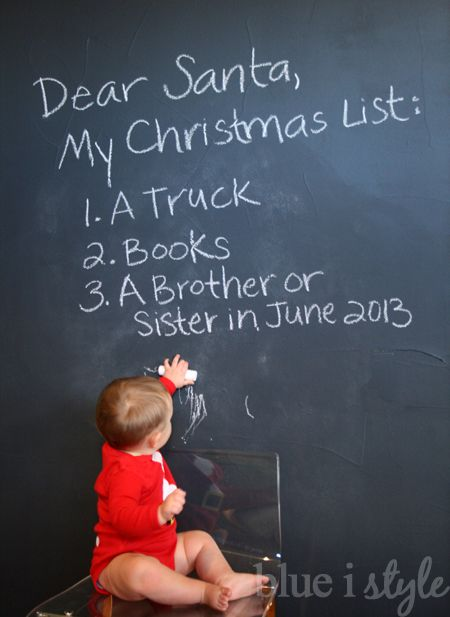 Love this Christmas-themed 2nd baby announcement!