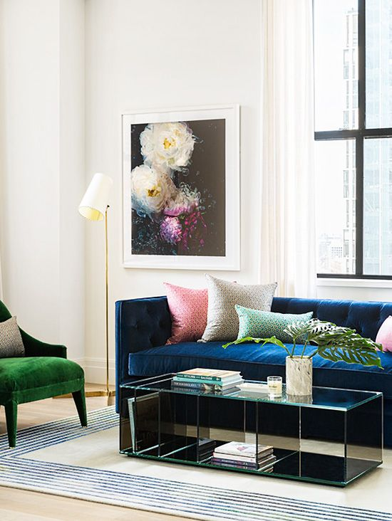 manhattan designers mobel When designer Bennett Leifer took on a model loft in 100 Barclay in New  York City with Domino, he took a punchy approach to the color scheme with a  bold