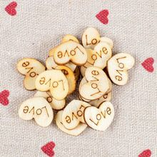 New Arrival Fashion Mini Love Heart Style Wooden Scrap Booking Craft Card Wedding Decoration Clothing Decal Free Shipping(China (Mainland))