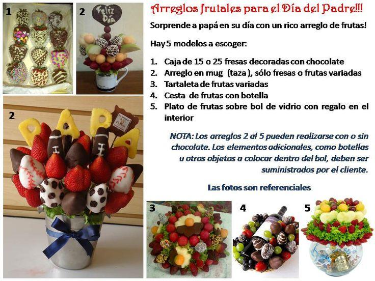 Arreglos de frutas para regalar en el Día del Padre!