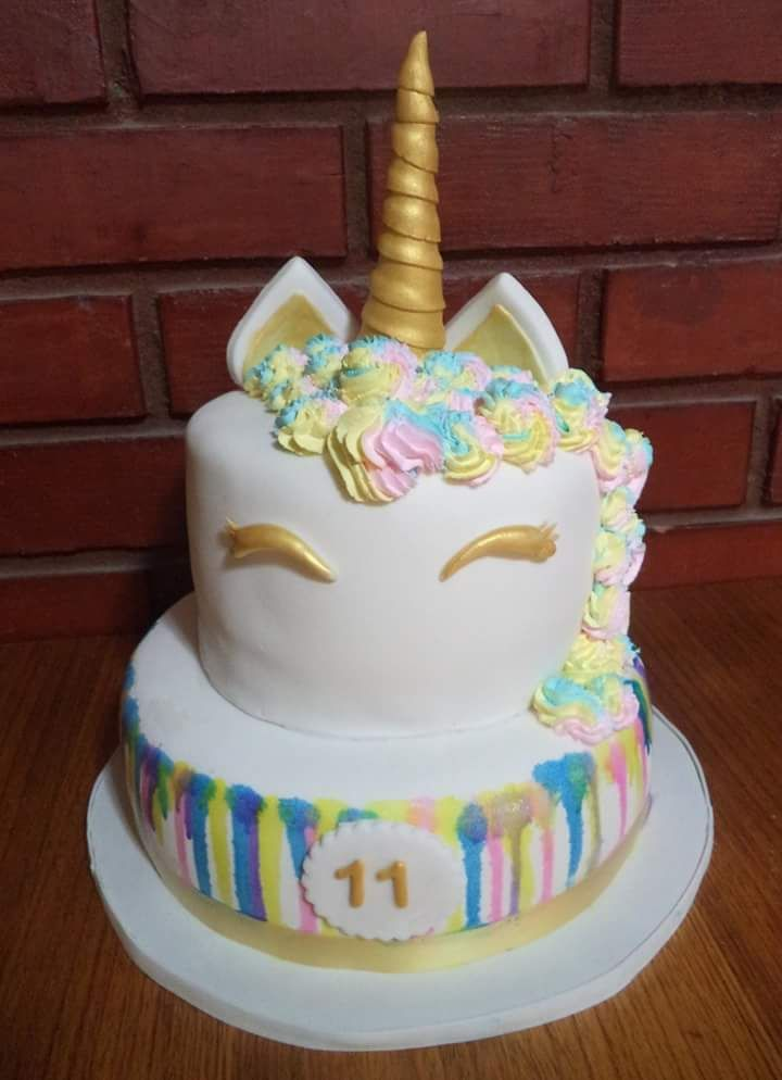Unicornio  #Unicor fondant #cake creada por Volovan Productos , Punta Arenas- Chile
