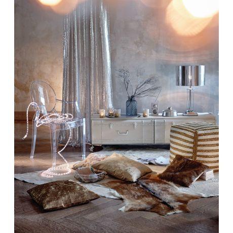 Bringt Ein Bisschen Studio 54 Atmosphare Ins Wohnzimmer Tischleuchte Mit Glaszylinder Als Fuss Und Verchromtem