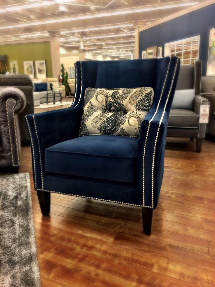 Our Bell chair looks absolutely stunning dressed in blue... I am in love with this chair!  www.sofaland.ca/bell