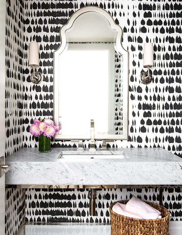 We've rounded up some of our favorite patterned powder rooms from Pinterest to inspire you to take a bold decorating leap in a little space this holiday season.